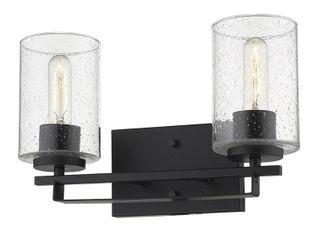 Orella 2 light Matte Black Wall Sconce Retail 110 00