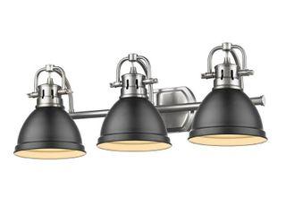 Golden lighting Duncan 3 light Bath Vanity Fixture Retail 208 00