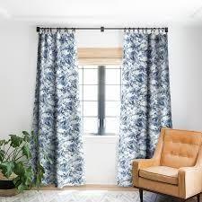 DENY Designs Jacqueline Maldonado Marble Mist Blue Blackout Curtain Panel 84 Inches