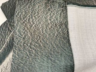 Curtain Unknown Size Green Tan Print