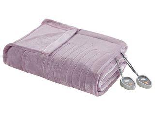 Simmons Beautyrest Heated Plush Blanket  Full  Retail 89 66