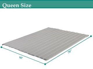 ONETAN 0 75 inch Standard Mattress Support Wooden Bunkie Board   Slats with Cover Queen Retail 87 49