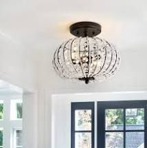 Catalina 11 7  Metal  Acrylic lED Semi Flush Mount  Oil Rubbed Bronze Crystal by JONATHAN Y Retail 107 11