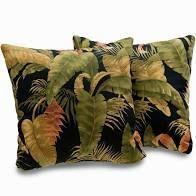 Kokomo Tropical leaf Print 18 inch Decorative Throw Pillows  Set of 2
