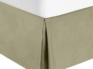 Nestl Bedding luxury Pleated Queen Size Bed Skirt   14  Drop