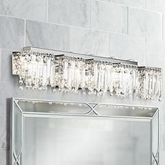 Silver Orchid Tracy 3 light Chrome  Crystal Wall Sconce Retail 98 99