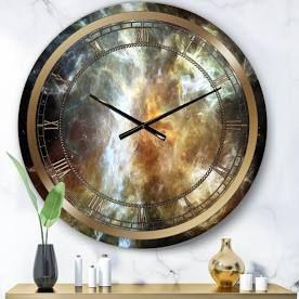 Designart  Space Marble  Glam Wall Clock Retail 139 99