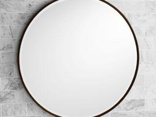 Copper Grove Encamp 30 inch Round Framed Wall Mirror  Retail 111 99