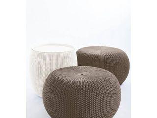 Keter 3 Piece Cozy Urban Knit Indoor Outdoor Set  Retail 109 99