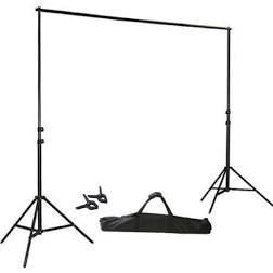 Kshioe T Shape Backdrop Stand with 90cm Crossbar   Clamps   Carry Bag