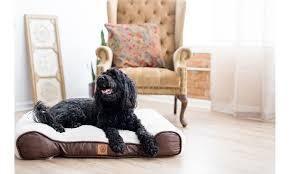 Snoozzy Rustic luxury Shredded Orthopedic Sleigh Dog Bed