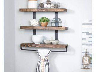 Del Hutson Designs Industrial Grace Three Tier Floating Shelves  Retail 88 99