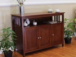 Hollydale Chestnut Mission Style Sideboard Table
