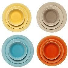 Melange 18 Piece Melamine Dinnerware Set