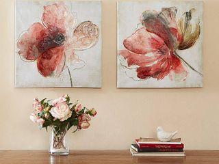 Madison Park lovely Blooms Hand Embellished Canvas 2 piece Set