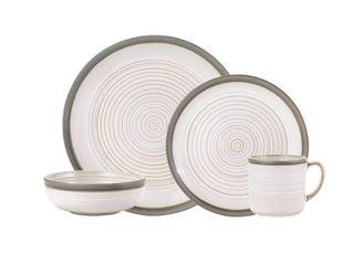 Pfaltzgraff Aspen White 32 Piece Dinnerware Set  Service for 8