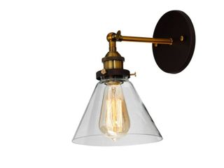 Chloe lighting Reed Industrial 1 light Oil Rubbed Bronze Wall Sconce 7  Wide