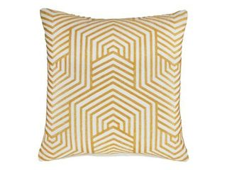 Signature Design by Ashley Adrik Golden Yellow Geometric Patterned Contemporary Accent Pillow