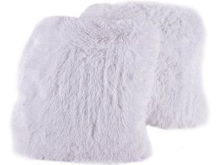 Sweet Home Collection Faux Fur 18 Inch Decorative Throw Pillows  set of 2