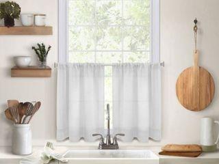 Elrene Pintuck Kitchen Window Tier Set of 2 30 x 36