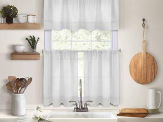 Elrene Pintuck Kitchen Window Tier Set of 2 30 x 24