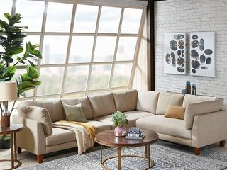 Ink and Ivy Jimbo Natural left Hand Sectional loveseat