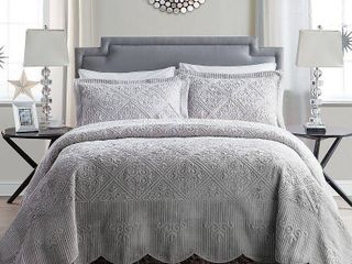 VCNY Westland Plush Quilted Bedspread Set King Retail 151 15