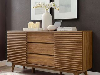 Carson Carrington lagered 63  Sideboard Buffet Table or TV Stand