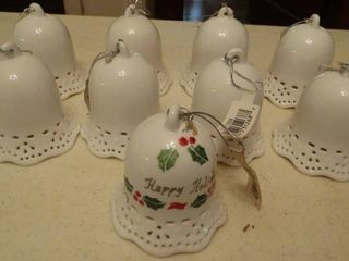 lot of 9 Ceramic Bells