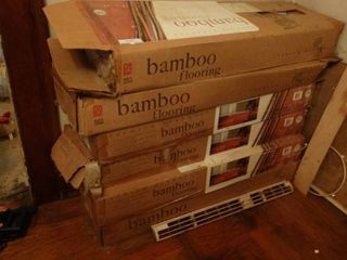 lot of 6 Boxes of Bamboo Flooring   24 SQ Ft