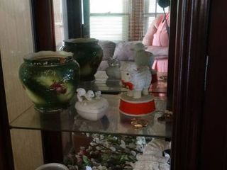 lot of Home Decor  Figurines  Vases  linens  Etc