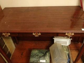 Wooden Three Drawer Desk