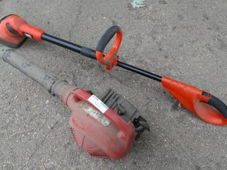 Homelite Yard Broom and Black and Decker Tiller