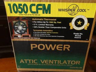 1050 CFM Whisper Cool Attic Ventilator