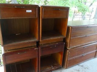 lot of Wooden Furniture  Side Tables  Dressers  and Headboard