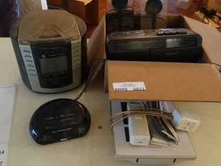 lot of 3 Alarm Clock Radios and AcuRite Digital Weather Station