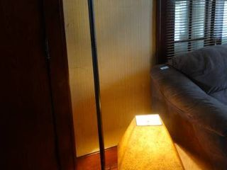 Black Floor lamp and White Table lamp