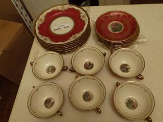 China cup saucer   small plate set