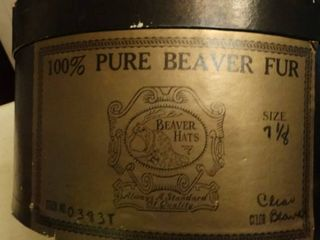 Beaver hats  100  Beaver fur  size 7 1 8