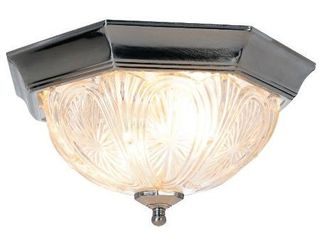 AF lighting 671367 12 Inch D by 6 1 4 Inch H Decorative Ceiling Fixture  Pewter