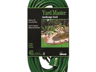 Woods 990394 landscape and Patio Extension Cord  16 3 SJTW light Duty  Green 80  80 Foot