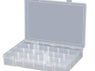 DURHAM Compartment Box Up to 24 Compartments lPADJ ClEAR