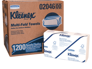 Kimberly Clark Kleenex 02046 1 Ply Multi Fold Towel  9 25 64  length x 9 3 16  Width  White  8 Packs of 150