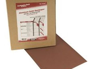 National Brand Alternative 800292 Sandpaper 9 X 11 Pack of 25 sheets