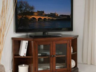 Copper Grove Jabrosa Cherry 46 inch Corner TV Stand with Bookcases  Retail 382 49