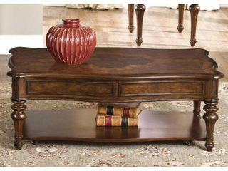 Andalusia Vintage Cherry Cocktail Table  Retail  589 68