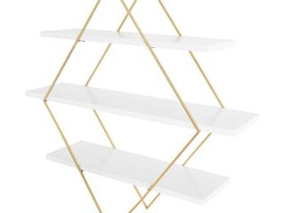 Kate and laurel Daxton Wood and Metal Wall Shelf   Retail 151 99