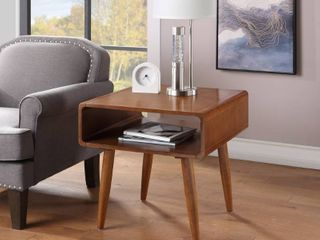 Alborg Mid Century Accent Table Brown by Boraam Industries