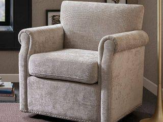Madison Park Helleman Cream Swivel Chair  Retail   560 98