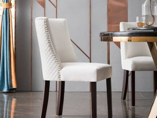 Ovios Velvet Dining Chairs Upholstered Accent Chair  Set of 2